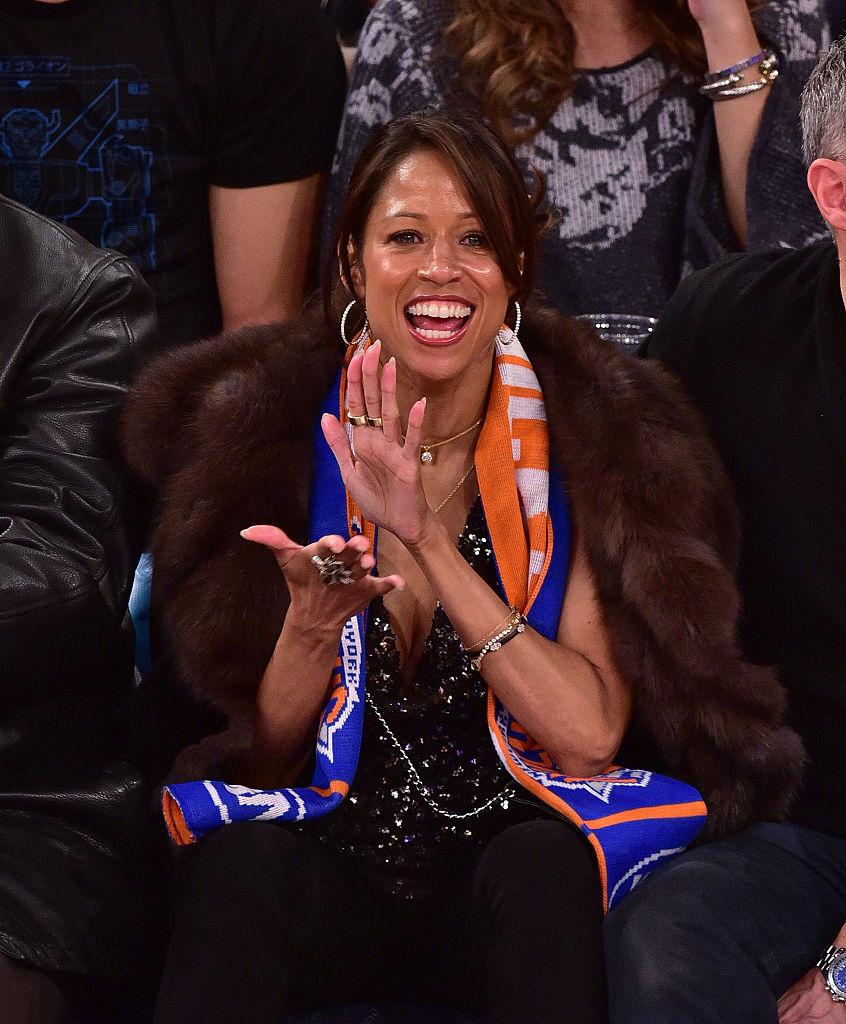 Celebrities Attend The Orlando Magic Vs New York Knicks Game - January 23, 2015