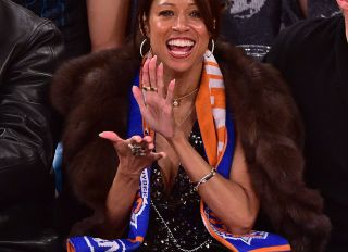 Celebrities Attend The Orlando Magic Vs New York Knicks Game - January 23, 2015