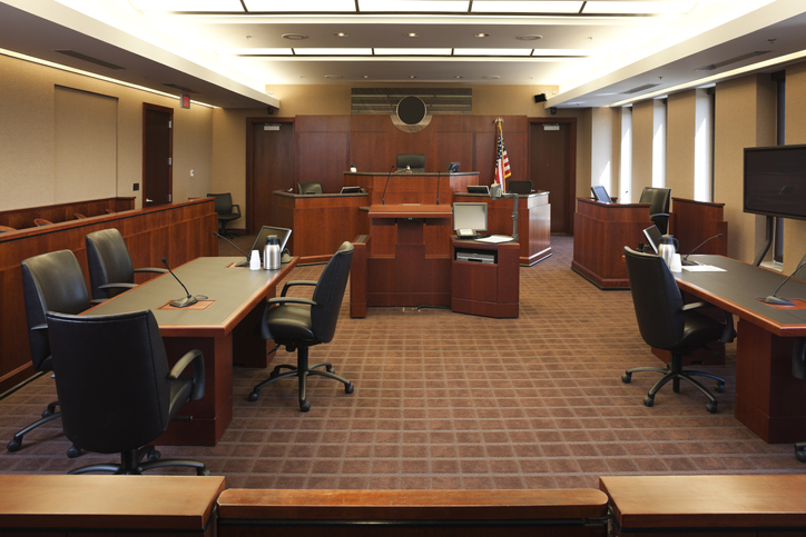 Federal Courtroom.