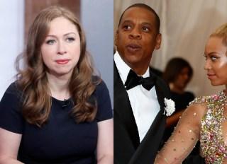Beyonce Jay-Z Chelsea Clinton