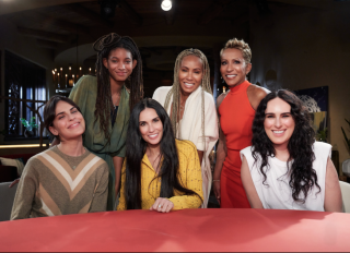 Demi Moore, Rumer Willis and Tallulah Willis join Willow Smith, Jada Pinkett-Smith, and Adrienne Banfield Norris on Red Table Talk