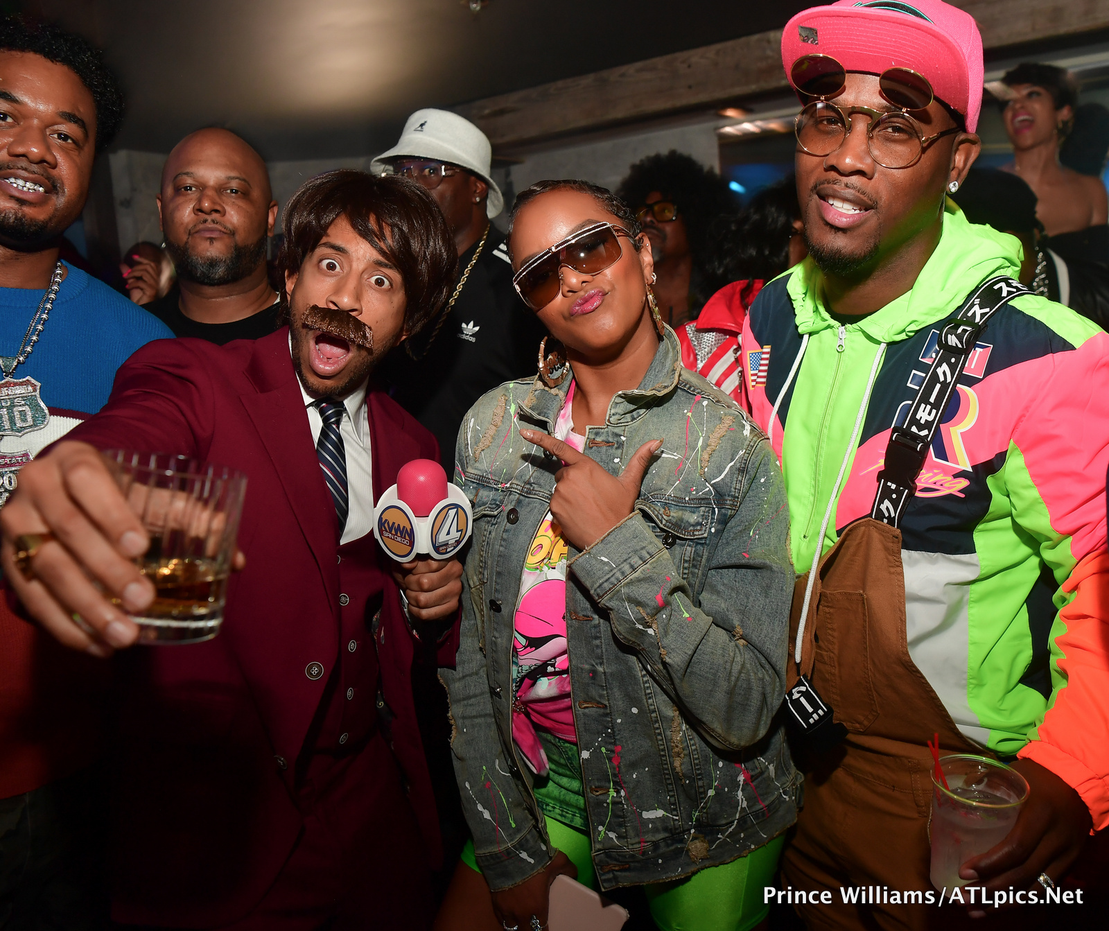 Ludacris Letoya Luckett and Tommicus Walker at Kenny Burns Cassette party