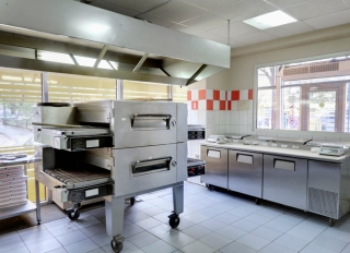 Empty pizza kitchen