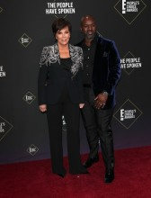 Kris Jenner and Corey Gamble 45th Annual Peoples Choice Awards in Los Angeles