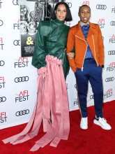 Melina Matsoukas and Lena Waithe attends Premiere of 'Queen & Slim' at AFIFest