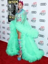 Melanie Halfkennny attends Premiere of 'Queen & Slim' at AFIFest
