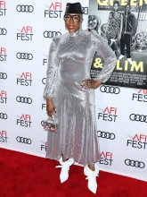 Aisha Hinds attends Premiere of 'Queen & Slim' at AFIFest
