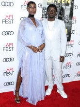 Jodie Turner Smith and Daniel Kaluuya attend Premiere of 'Queen & Slim' at AFIFest