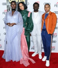 Jodie Turner Smith Melina Matsoukas Daniel Kaluuya and Lena Waithe attend Premiere of 'Queen & Slim' at AFIFest