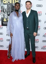 Jodie Turner Smith and Joshua Jackson attend Premiere of 'Queen & Slim' at AFIFest