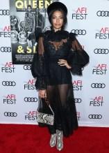 Aurora James attends Premiere of 'Queen & Slim' at AFIFest