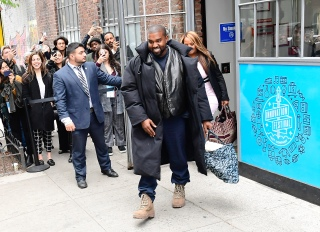 Kanye West In NYC