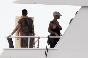 AE, Amber Rose, Tyga and girls vacation in St. Bart's