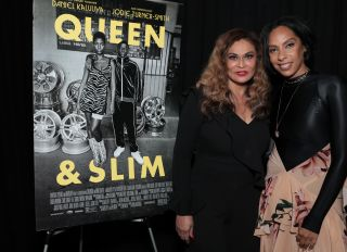 Tina Knowles-Lawson & Jay-Z At Los Angeles Screening Of Queen & Slim
