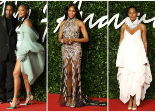Naomi Campbell Rihanna ASAP Rocky and Tracee Ellis Ross at the Fashion Awards 2019