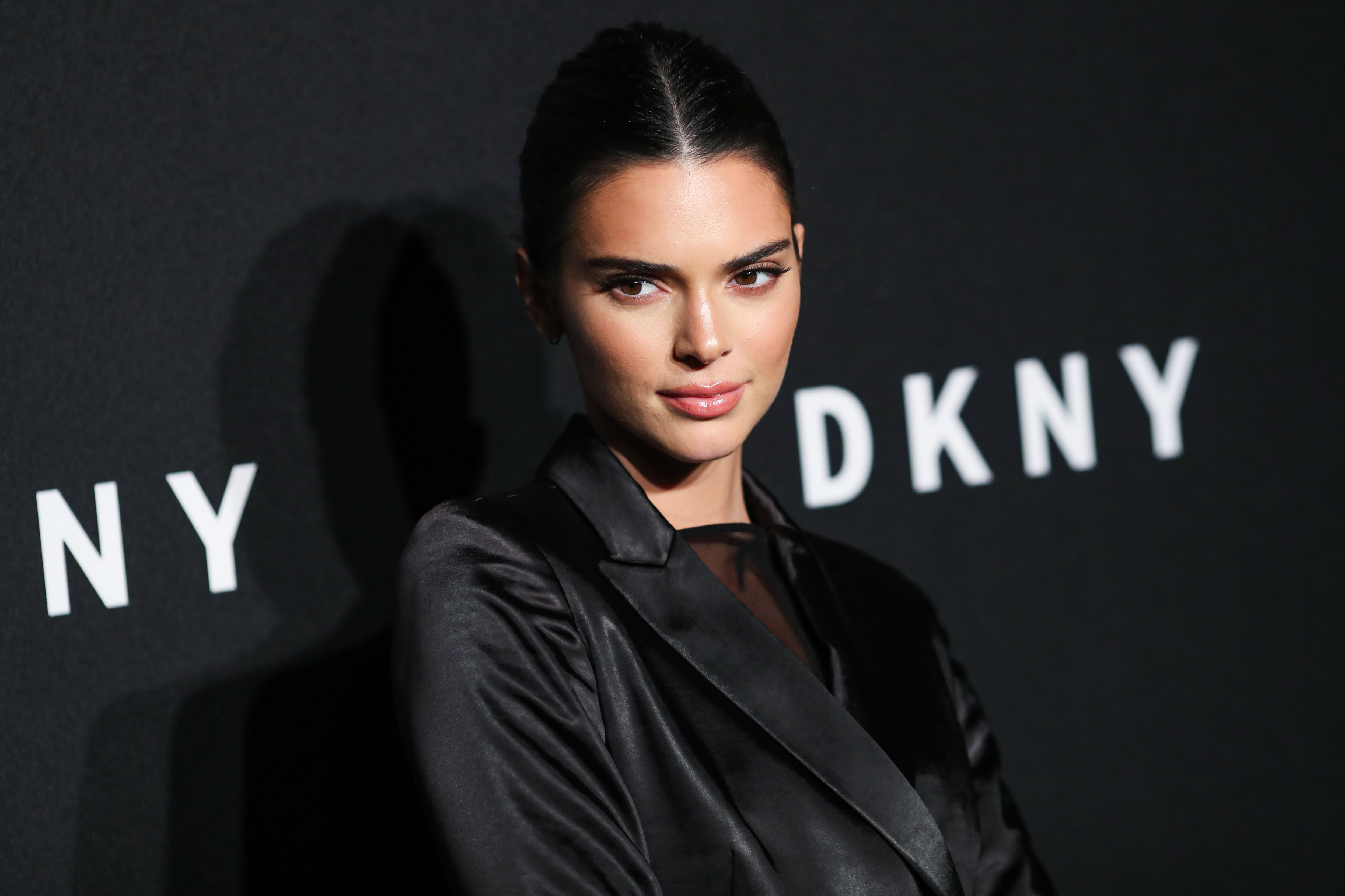 Kendall Jenner arrives at the DKNY 30th Birthday Party Celebration held at St. Ann's Warehouse on September 9, 2019 in Brooklyn, New York City, New York, United States.