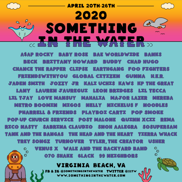 Something In The Water 2020 Line Up