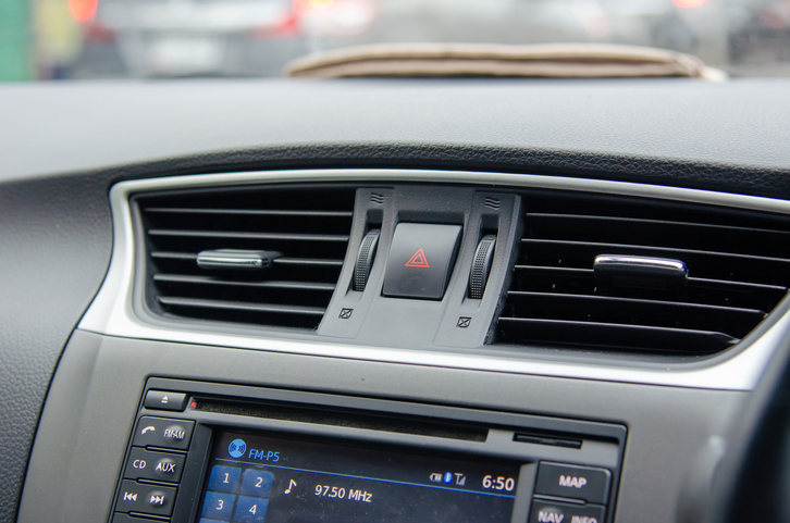 Close-Up Of Dashboard Of Car