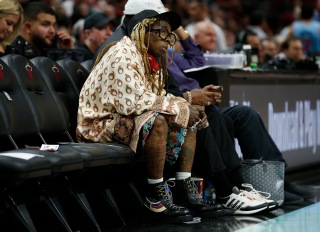 Lil Wayne Courtside