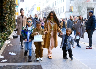 North West was photographed carrying a $10,000 Birkin bag in NY