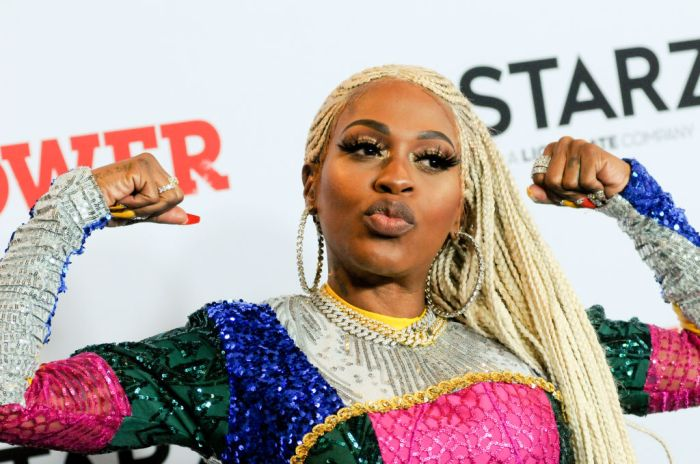 Lil Mo attends the Power Final Season Premiere held at...