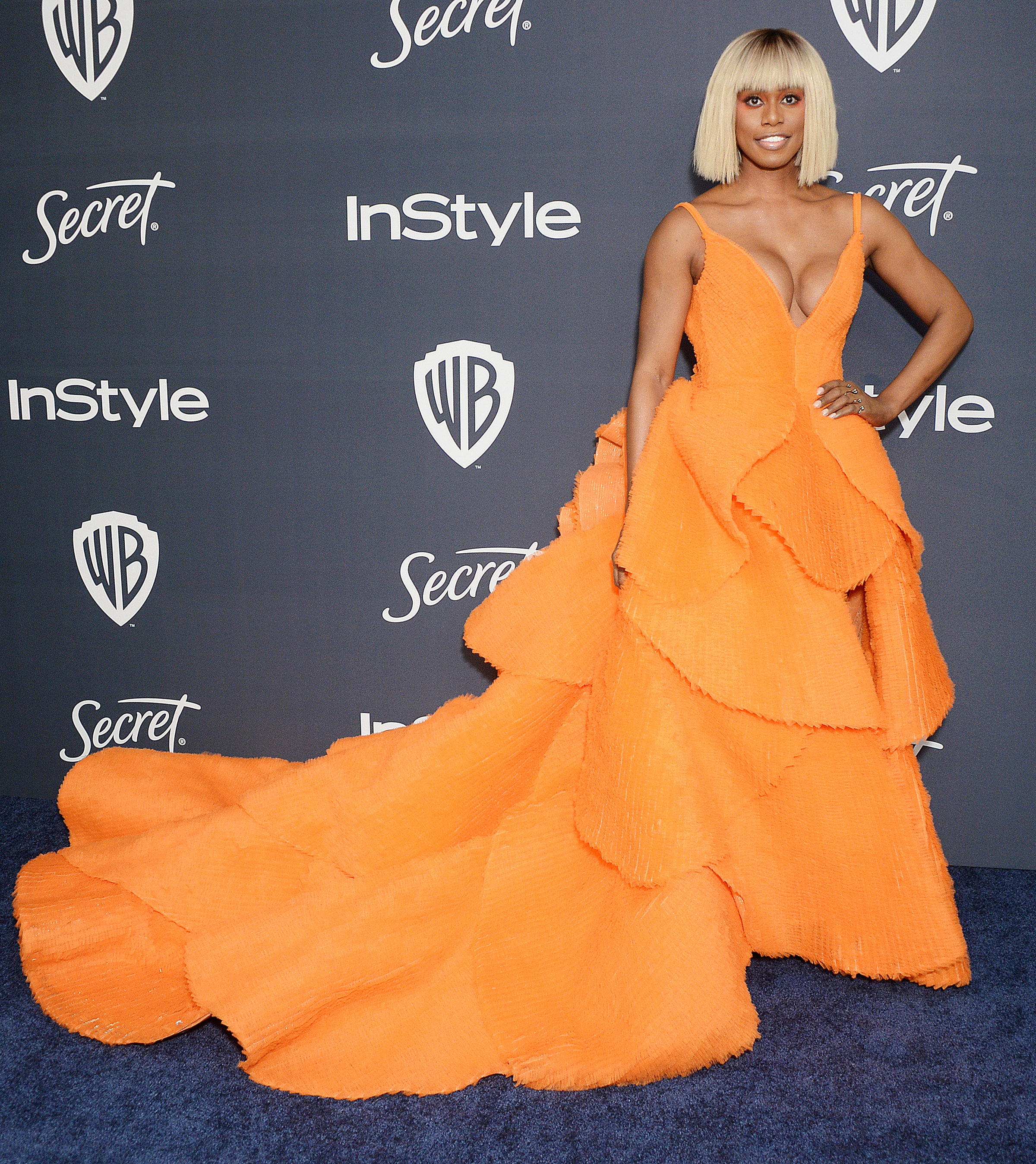 Laverne Cox attends InStyle & Warner Bros. Golden Globes Afterparty