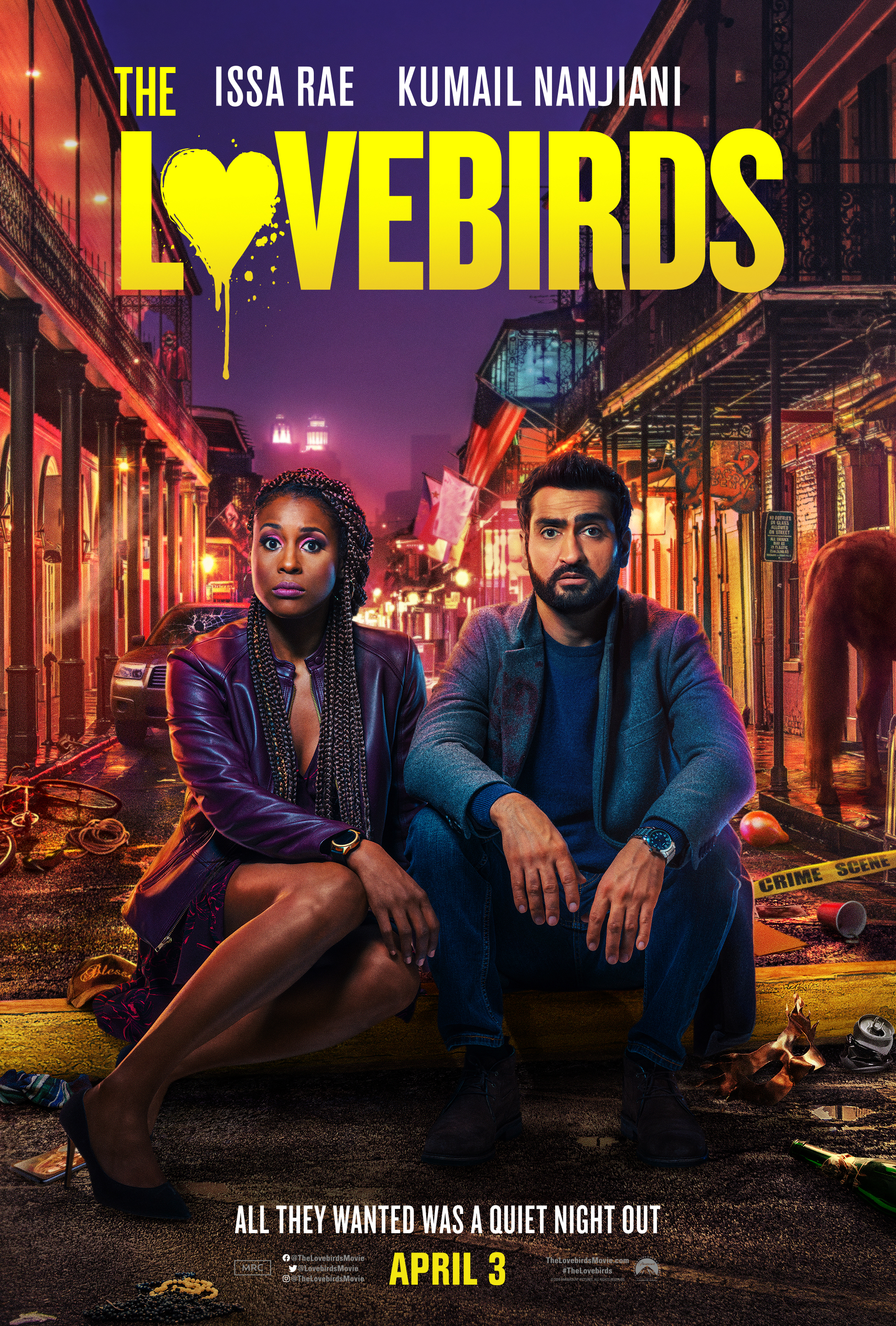 Paramount Pictures film 'The Lovebirds' stars Issa Rae and Kumail Nanjiani