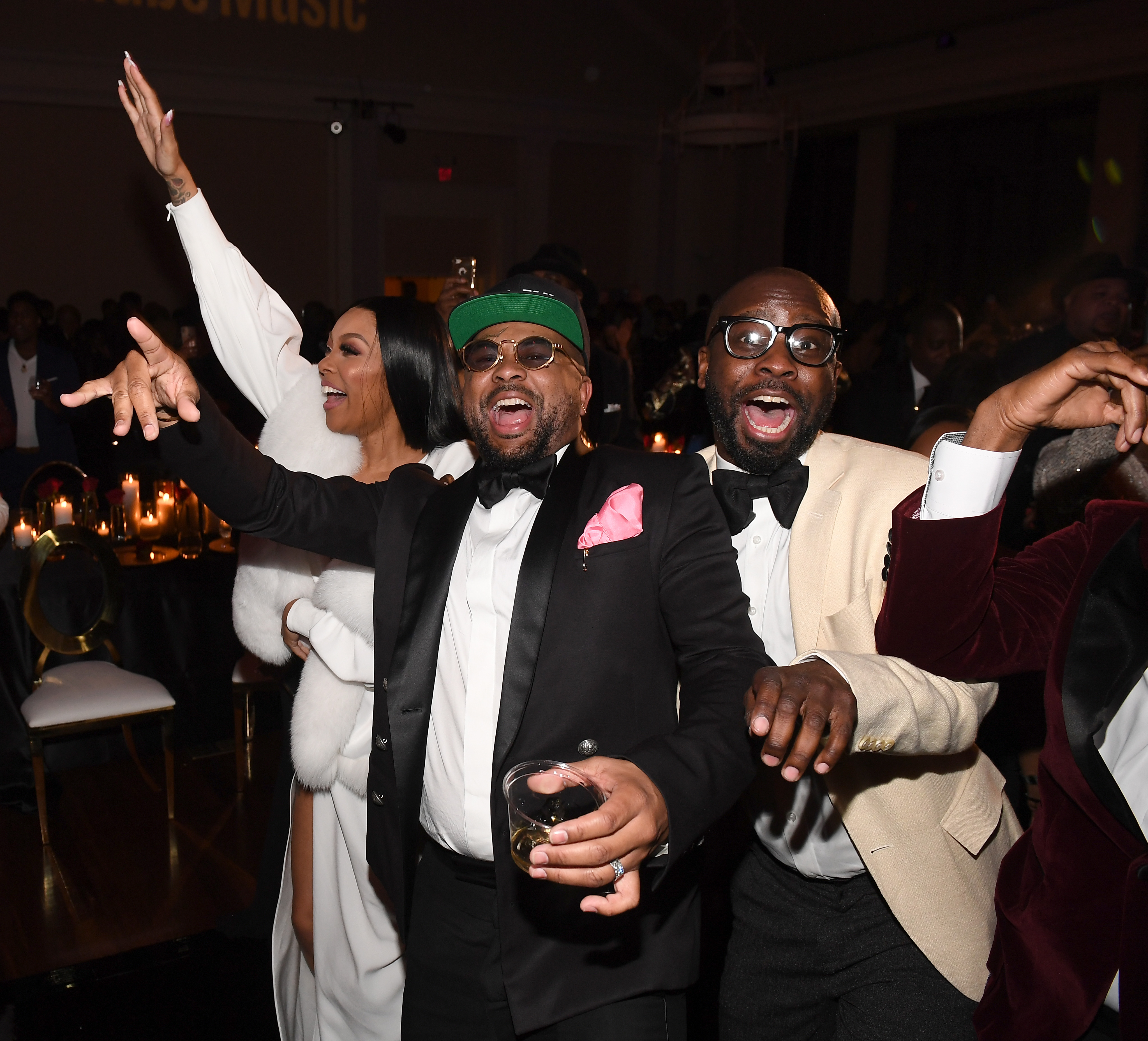 Monica, The Dream, Bryan Michael Cox, Terius Nash attend YouTube Music 2020 Leaders & Legends Ball