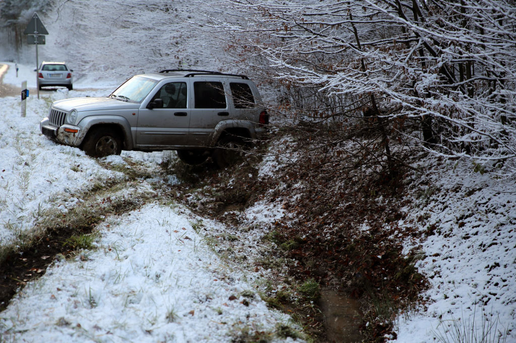 Road accidents from snow and ice