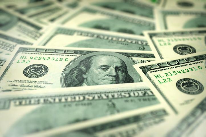 Full Frame Shot Of American One Hundred Dollar Bills