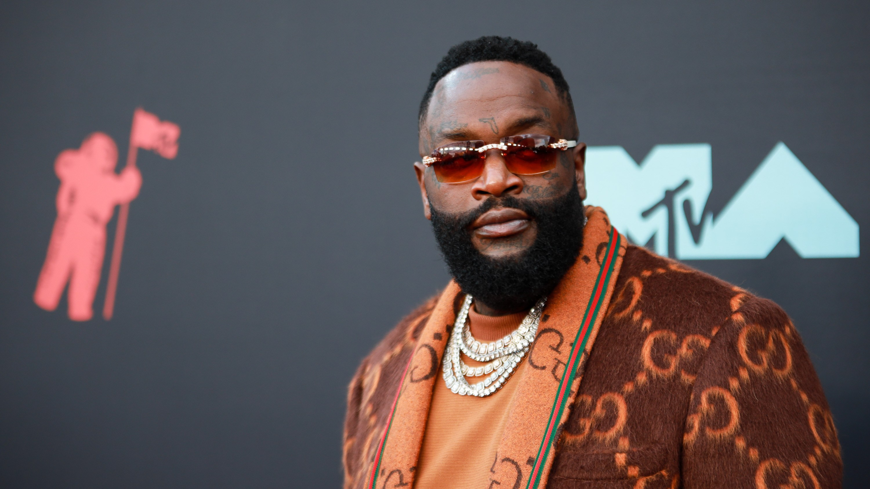 Rick Ross at arrivals for 2019 MTV Video...