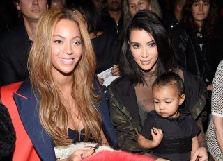 Kim Kardashian & Beyonce Front Row For Yeezy Season 1