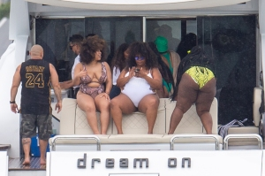 Lizzo Wears White Swimsuit In Miami