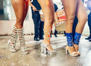 There's fire in the feet of a samba dancer