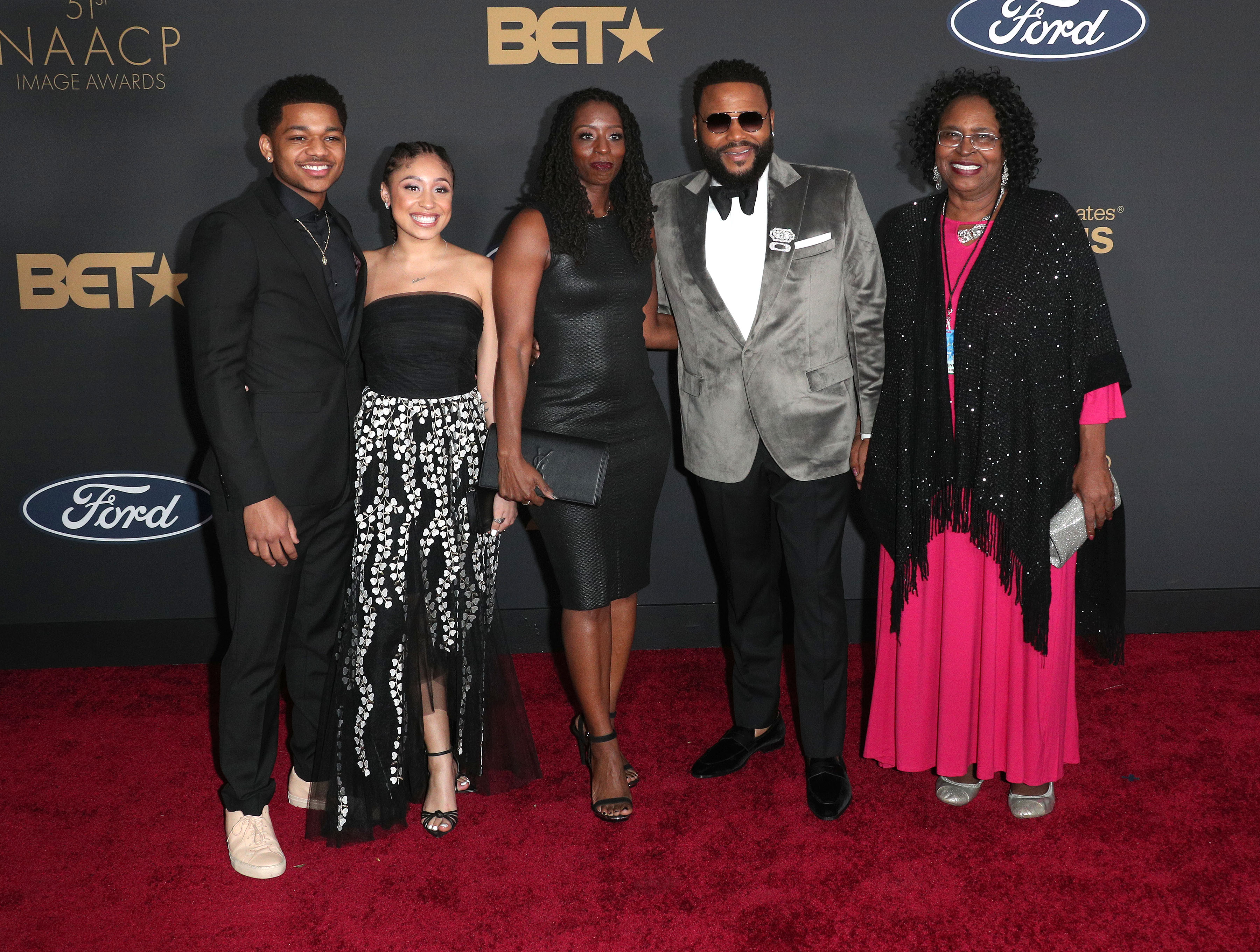 Anthony Anderson's family at The 51st NAACP Image Awards