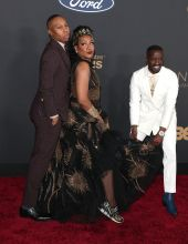 Lena Waithe and Tichina Arnold at The 51st NAACP Image Awards