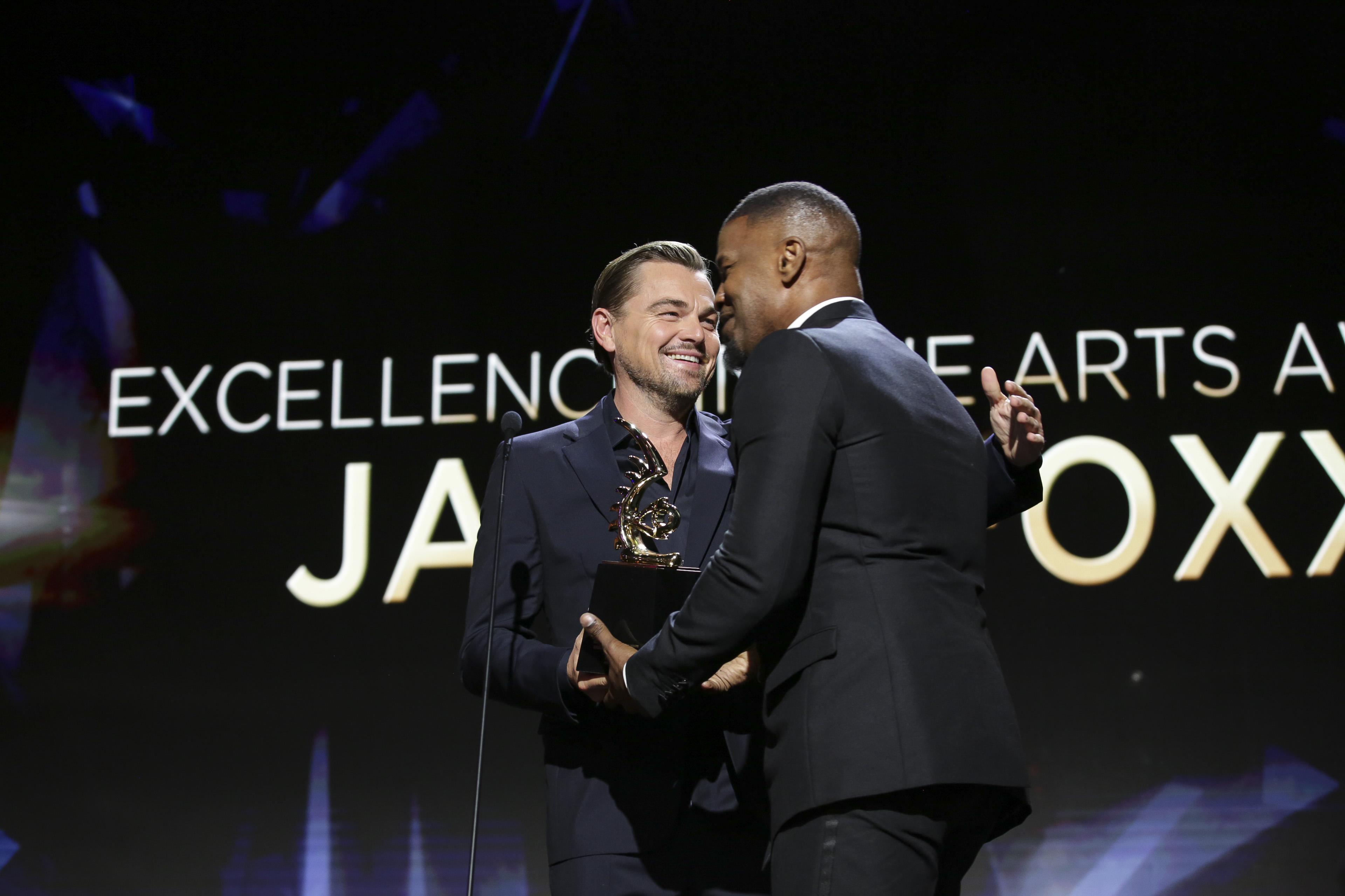 Leonardo DiCaprio Jamie Foxx 4th Annual American Black Film Festival Honors Awards