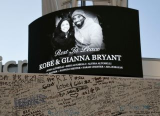 Fans Continue To Pay Respects To Kobe Bryant At Memorial Outside Of Staples Center And Around L.A.