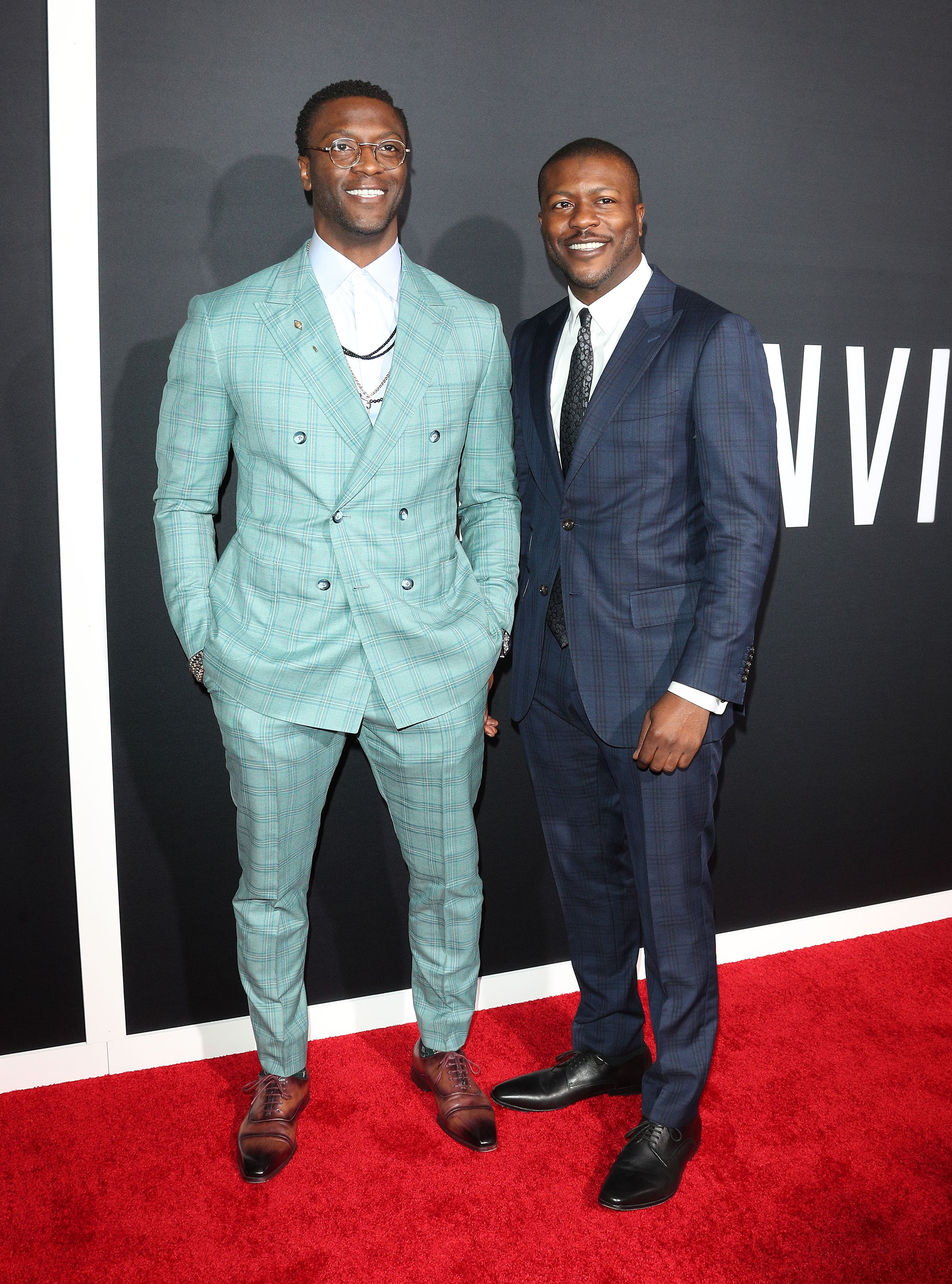 Aldis Hodge and brother Edwin Hodge The Invisible Man Premiere