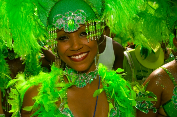 Young Woman in Carnival Costume