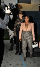 Lil Kim has dinner at Craig's in West Hollywood