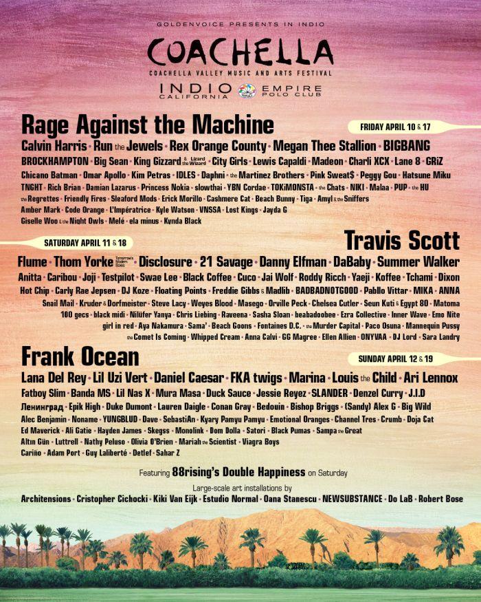 Coachella line up