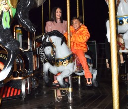 Kim Kardashian West and Kourtney Kardashian ride Eiffel Tower carousel with daughters North West and Penelope Disick