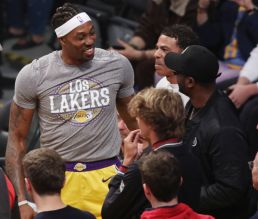Dwight Howard at the Lakers game