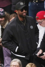 Dwyane Wade at the Lakers game
