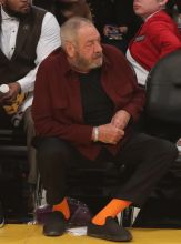 Dick Wolf at the Lakers game