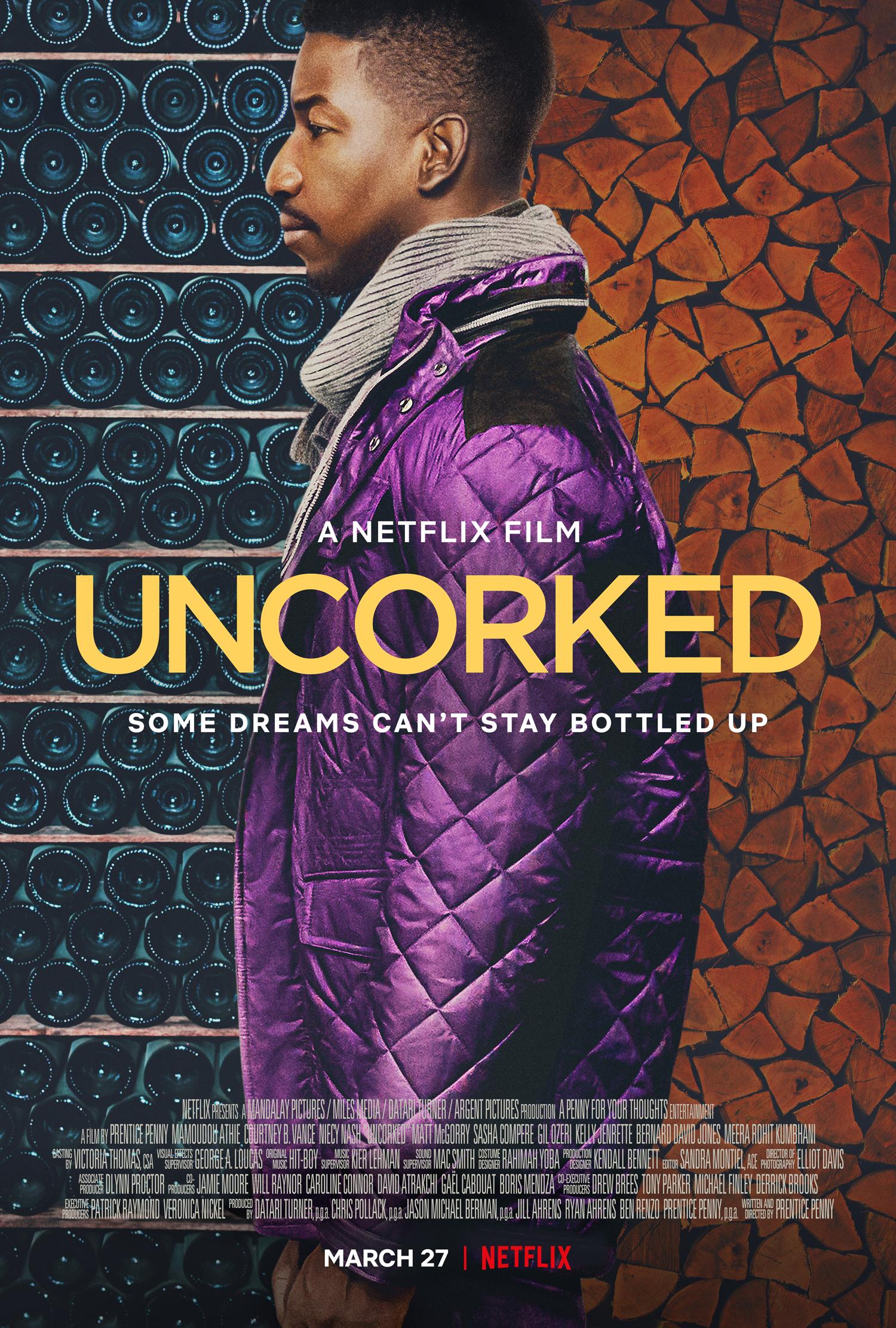 Key Art for Netflix movie Uncorked