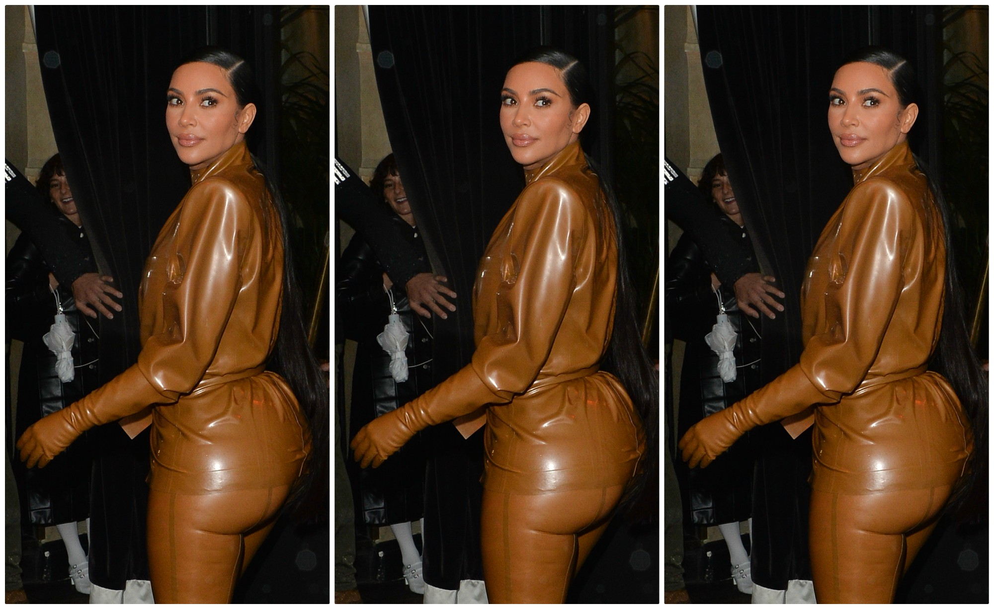 Kim Kardashian Latex Look