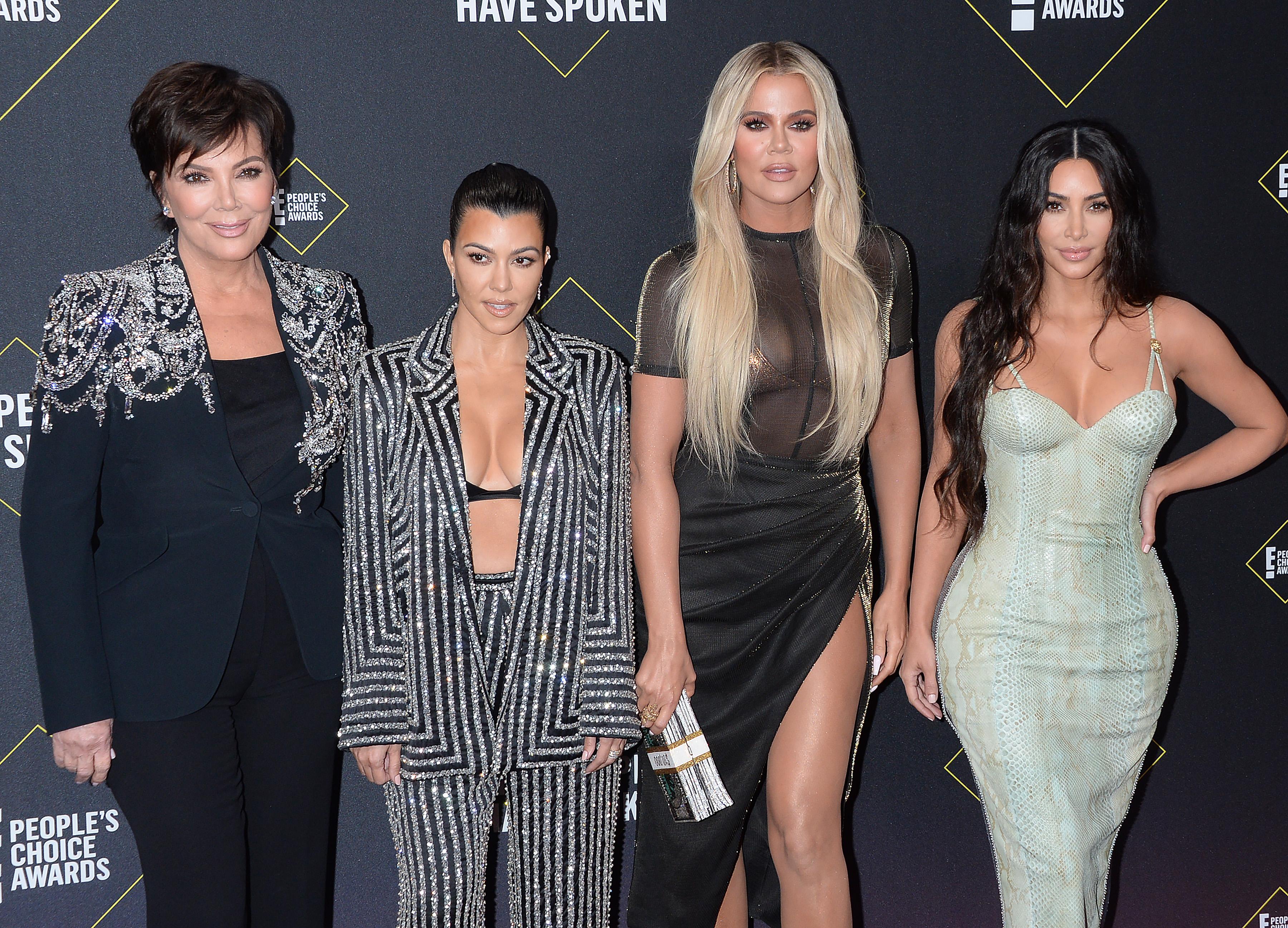 Kris Jenner and daughters Kourtney Kim and Khloe Kardashian