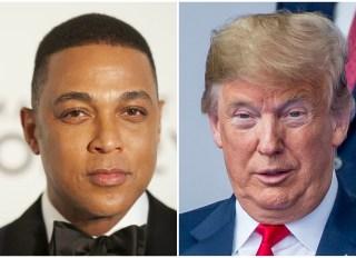 Don Lemon and Donald Trump